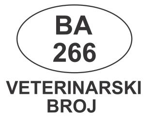 VETERINARSKI BROJ BA 266
